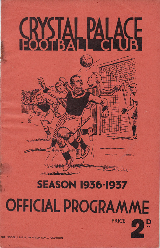 Saturday, January 16, 1937 - vs. Crystal Palace (Away)