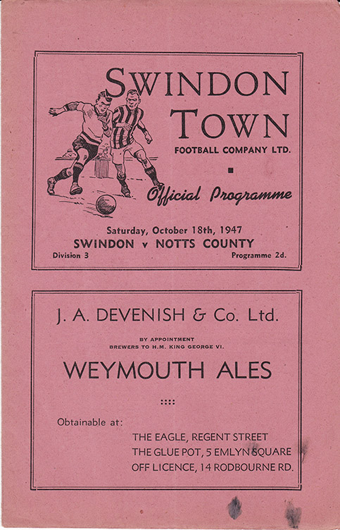 Saturday, October 18, 1947 - vs. Notts County (Home)