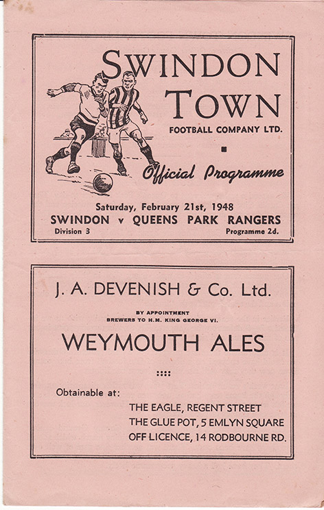 Saturday, February 21, 1948 - vs. Queens Park Rangers (Home)
