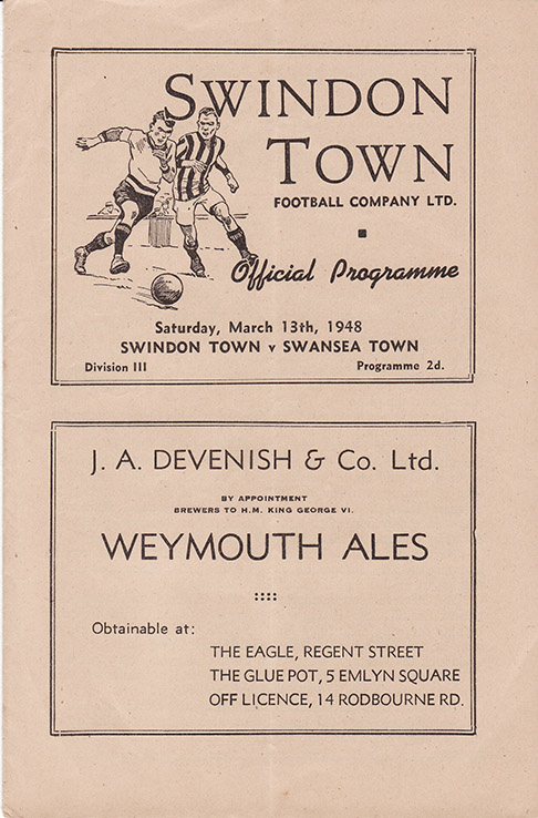 Saturday, March 13, 1948 - vs. Swansea Town (Home)