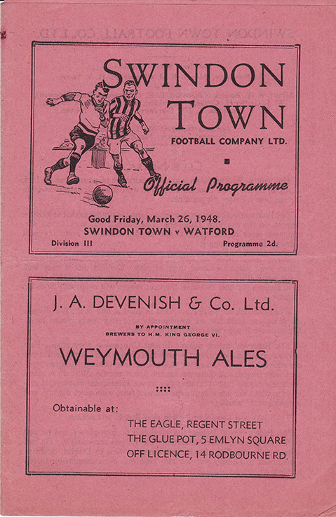 Friday, March 26, 1948 - vs. Watford (Home)