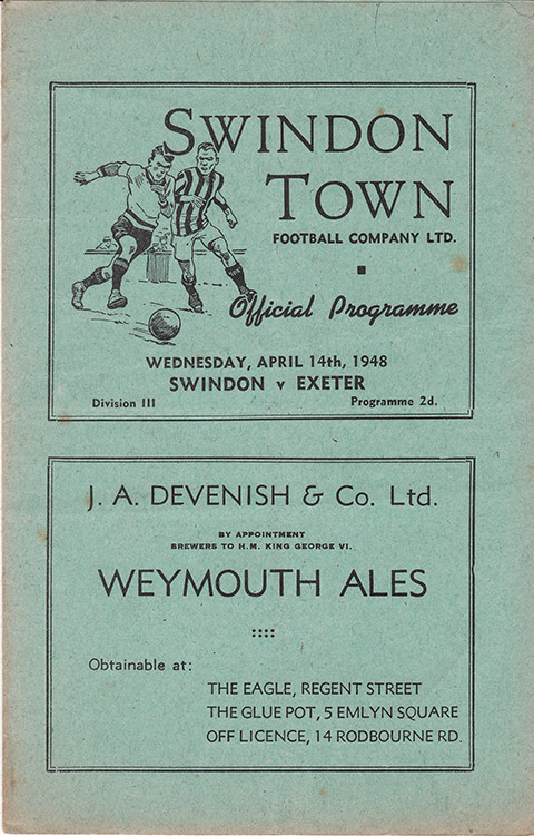 Wednesday, April 14, 1948 - vs. Exeter City (Home)