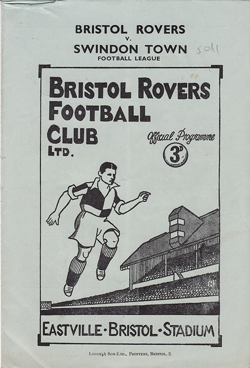 Saturday, August 19, 1950 - vs. Bristol Rovers (Away)