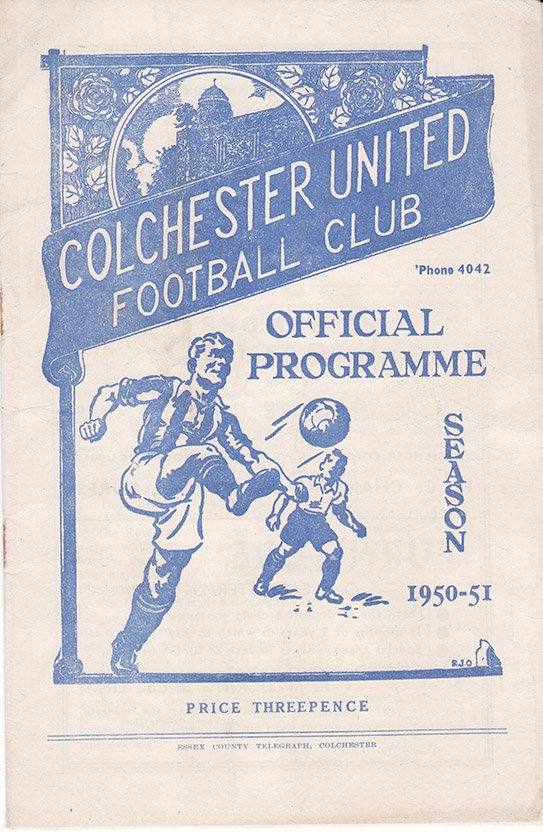 Thursday, August 31, 1950 - vs. Colchester United (Away)