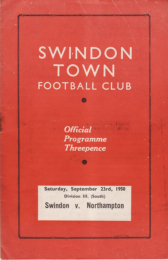 Saturday, September 23, 1950 - vs. Northampton Town (Home)