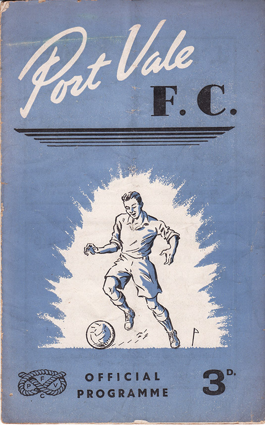 Saturday, September 30, 1950 - vs. Port Vale (Away)