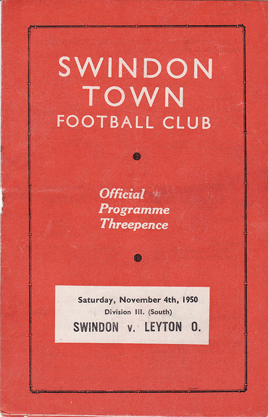 Saturday, November 4, 1950 - vs. Leyton Orient (Home)