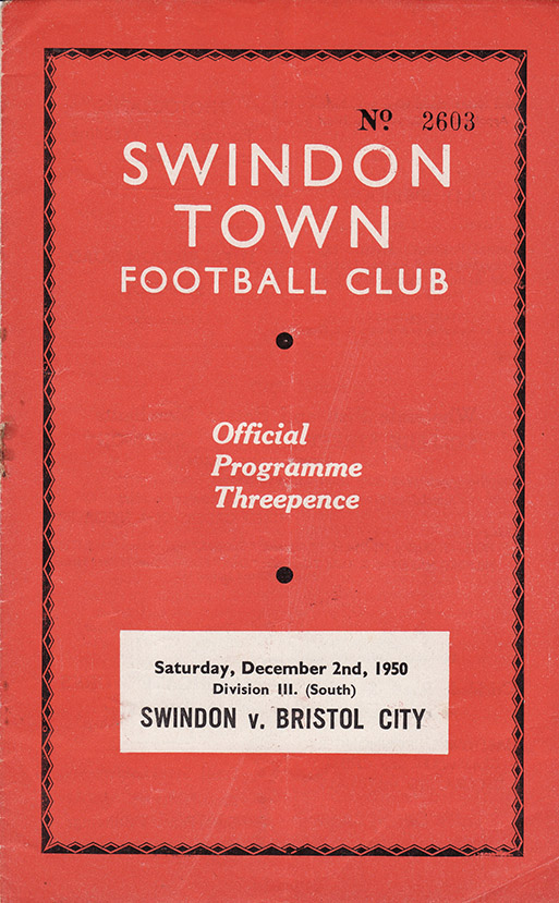 Saturday, December 2, 1950 - vs. Bristol City (Home)