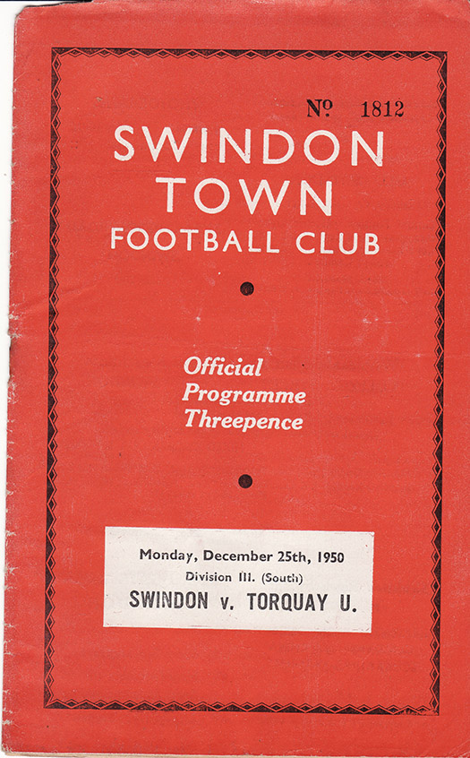 Monday, December 25, 1950 - vs. Torquay United (Home)