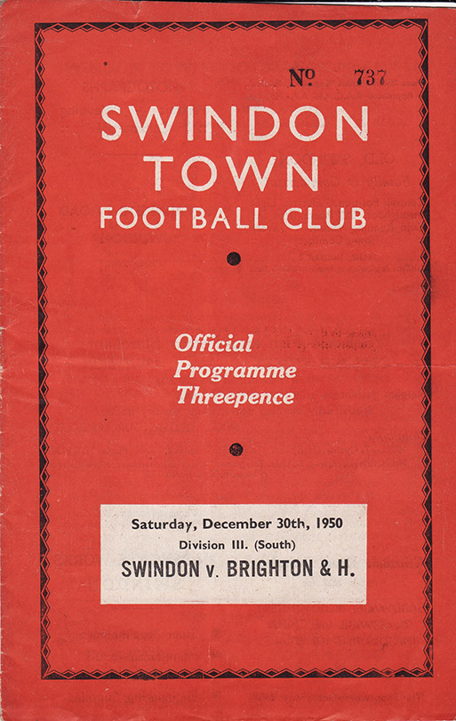 Saturday, December 30, 1950 - vs. Brighton and Hove Albion (Home)