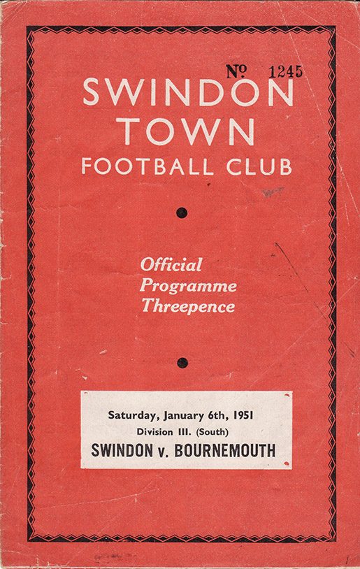 Saturday, January 6, 1951 - vs. Bournemouth and Boscombe Athletic (Home)