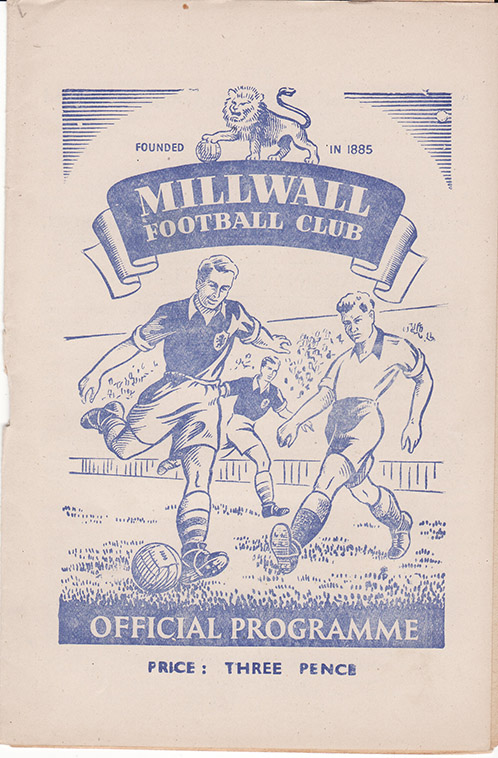 Saturday, February 10, 1951 - vs. Millwall (Away)