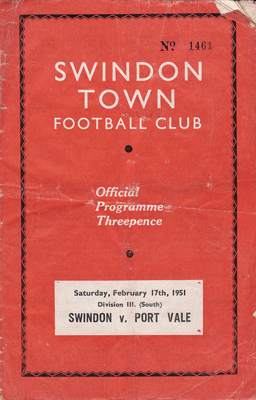 Saturday, February 17, 1951 - vs. Port Vale (Home)