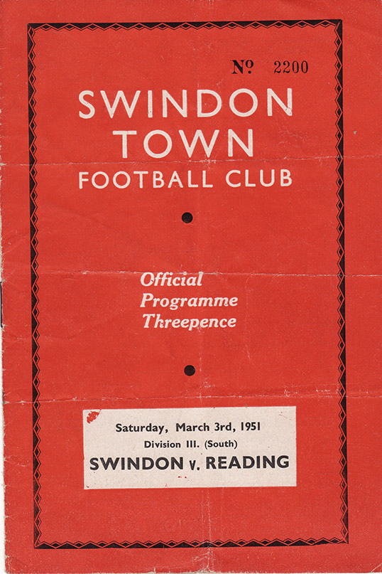 Saturday, March 3, 1951 - vs. Reading (Home)