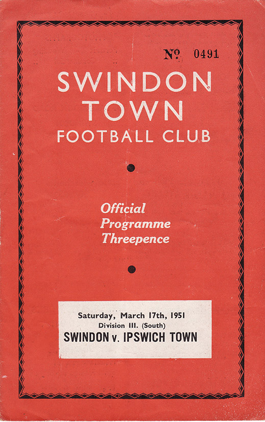 Saturday, March 17, 1951 - vs. Ipswich Town (Home)