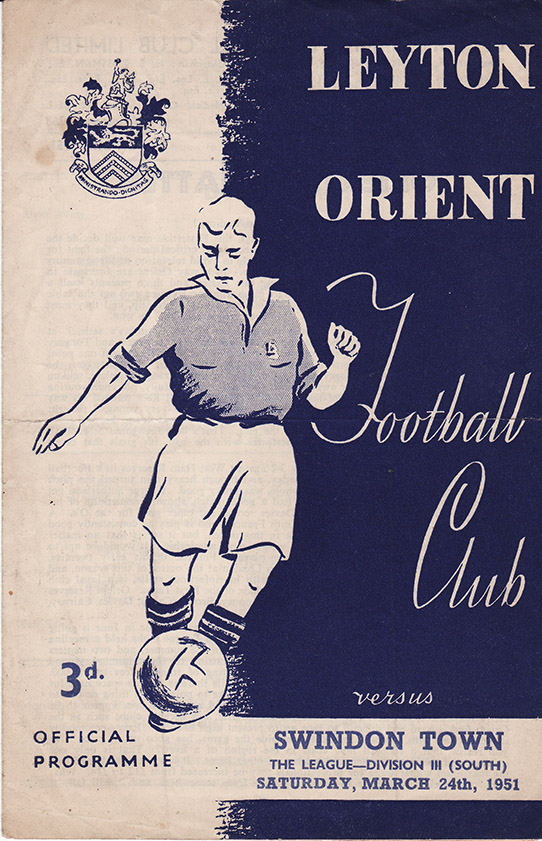 Saturday, March 24, 1951 - vs. Leyton Orient (Away)