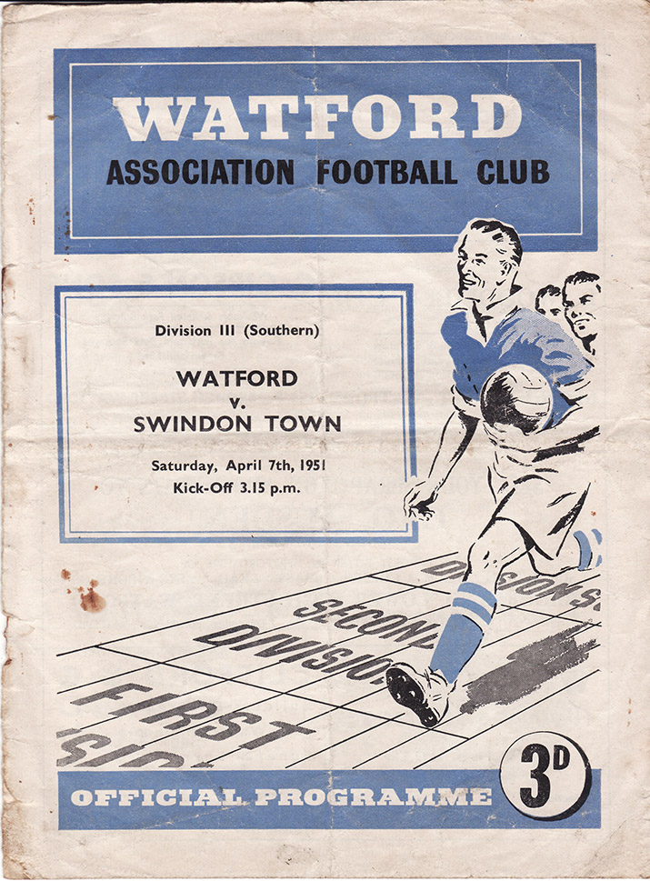 Saturday, April 7, 1951 - vs. Watford (Away)