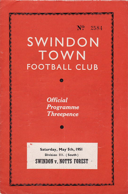 Saturday, May 5, 1951 - vs. Nottingham Forest (Home)