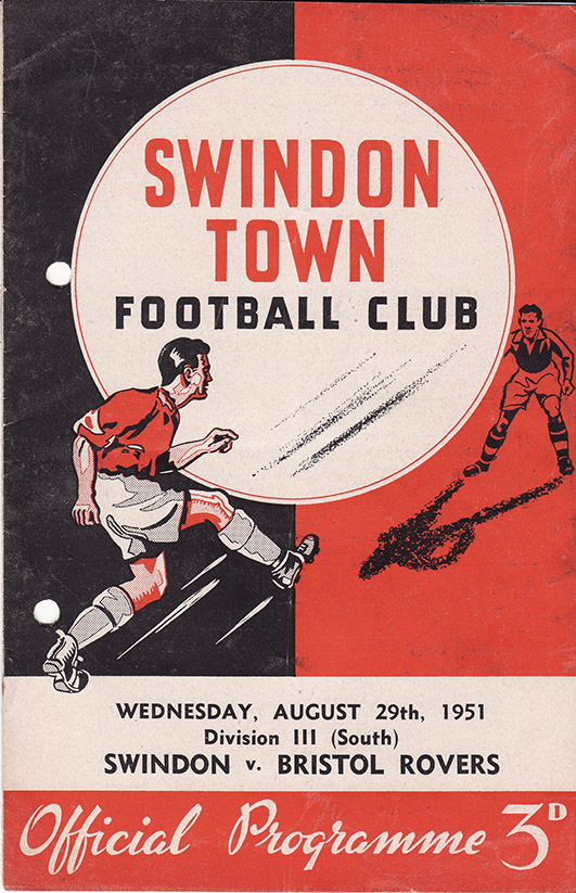 Wednesday, August 29, 1951 - vs. Bristol Rovers (Home)