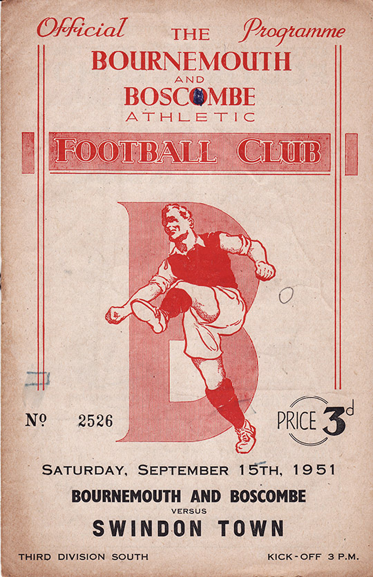 Saturday, September 15, 1951 - vs. Bournemouth and Boscombe Athletic (Away)