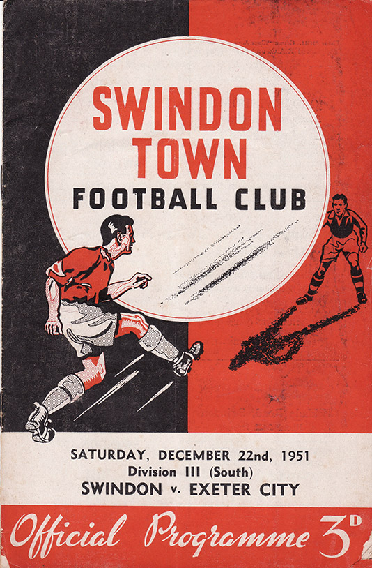 Saturday, December 22, 1951 - vs. Exeter City (Home)