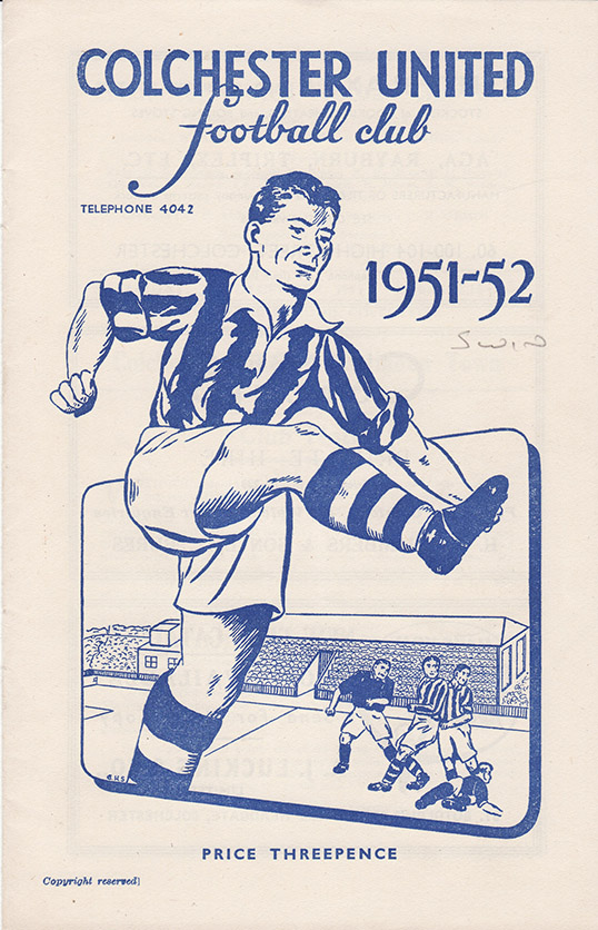 Saturday, December 29, 1951 - vs. Colchester United (Away)