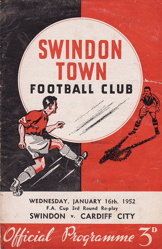 <b>Wednesday, January 16, 1952</b><br />vs. Cardiff City (Home)
