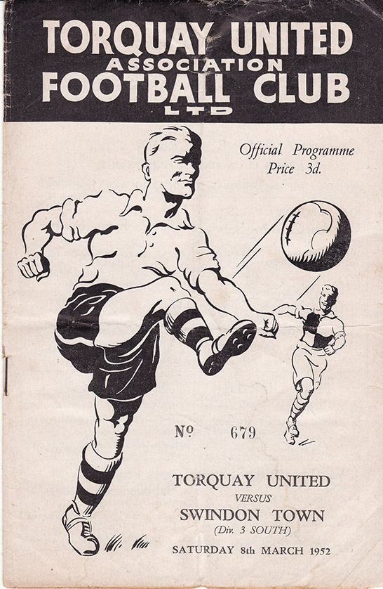Saturday, March 8, 1952 - vs. Torquay United (Away)
