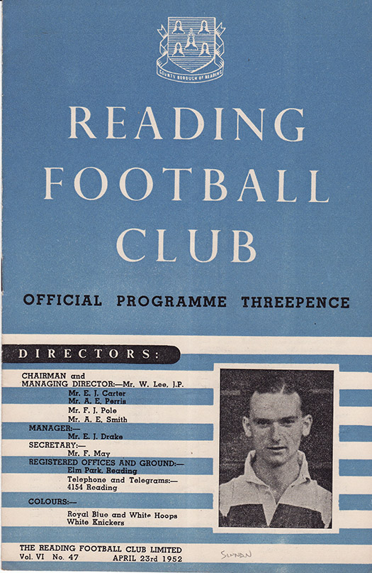 Wednesday, April 23, 1952 - vs. Reading (Away)