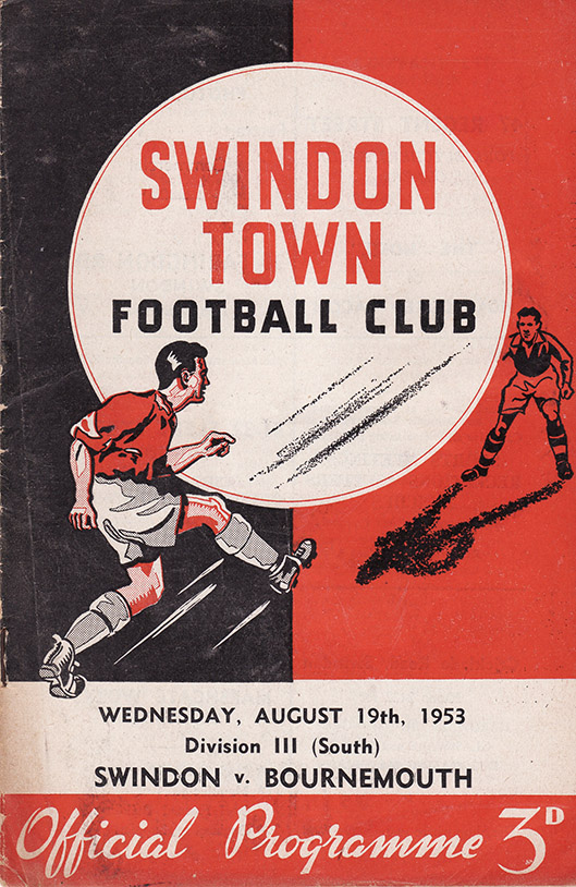 <b>Wednesday, August 19, 1953</b><br />vs. Bournemouth and Boscombe Athletic (Home)