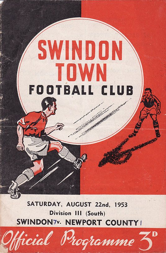 <b>Saturday, August 22, 1953</b><br />vs. Newport County (Home)