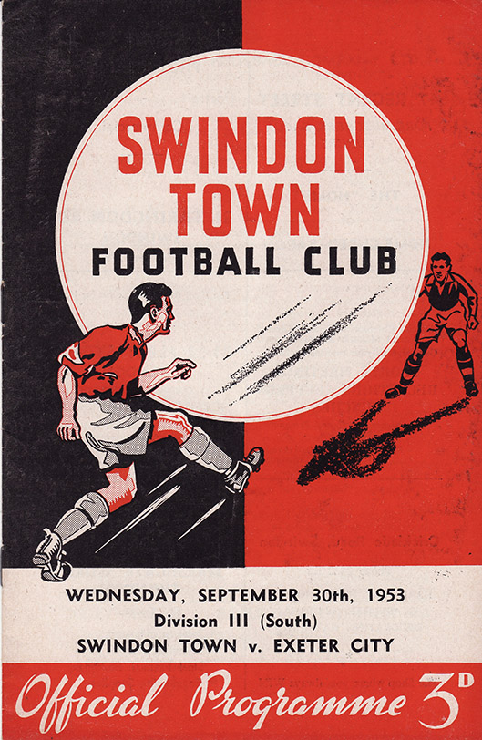 <b>Wednesday, September 30, 1953</b><br />vs. Exeter City (Home)
