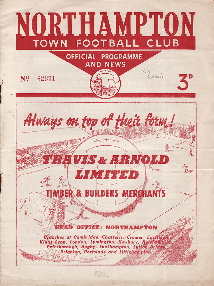 <b>Saturday, March 13, 1954</b><br />vs. Northampton Town (Away)