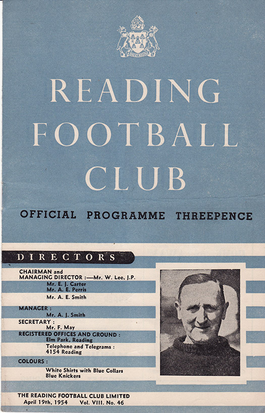 <b>Monday, April 19, 1954</b><br />vs. Reading (Away)