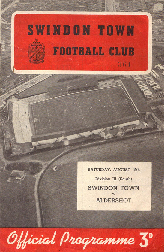 <b>Saturday, August 18, 1956</b><br />vs. Aldershot (Home)