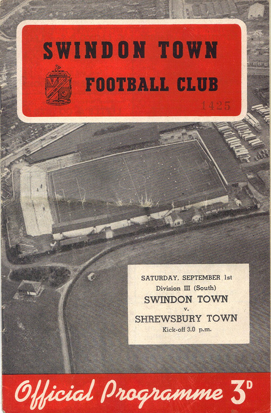 <b>Saturday, September 1, 1956</b><br />vs. Shrewsbury Town (Home)