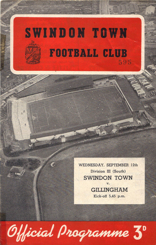 <b>Wednesday, September 12, 1956</b><br />vs. Gillingham (Home)