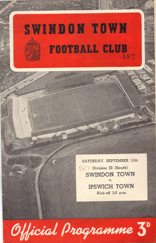 <b>Saturday, September 15, 1956</b><br />vs. Ipswich Town (Home)
