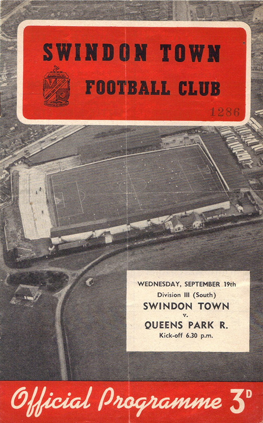 <b>Wednesday, September 19, 1956</b><br />vs. Queens Park Rangers (Home)