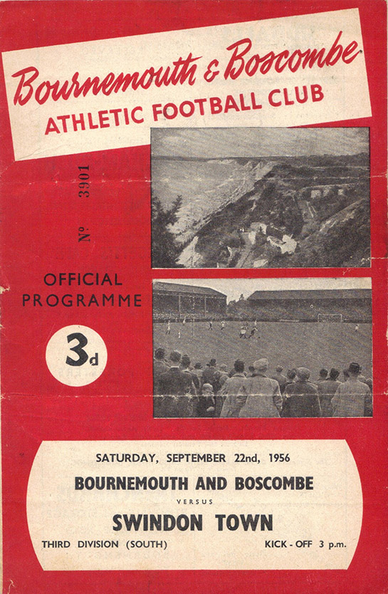 <b>Saturday, September 22, 1956</b><br />vs. Bournemouth and Boscombe Athletic (Away)