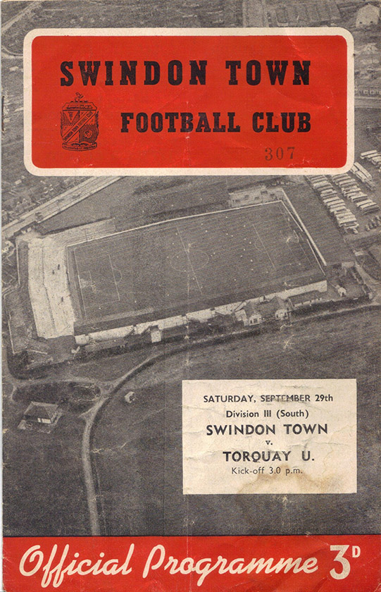 <b>Saturday, September 29, 1956</b><br />vs. Torquay United (Home)