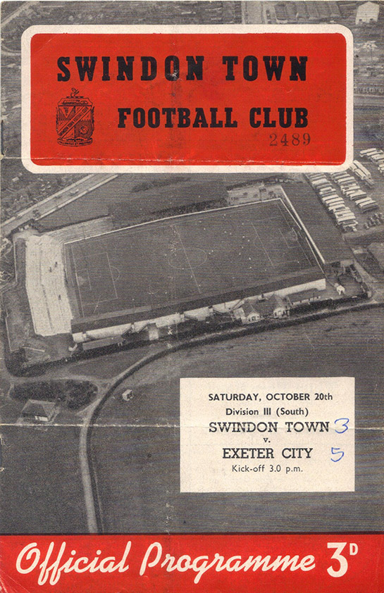 <b>Saturday, October 20, 1956</b><br />vs. Exeter City (Home)