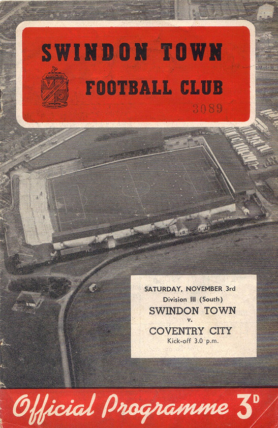 <b>Saturday, November 3, 1956</b><br />vs. Coventry City (Home)