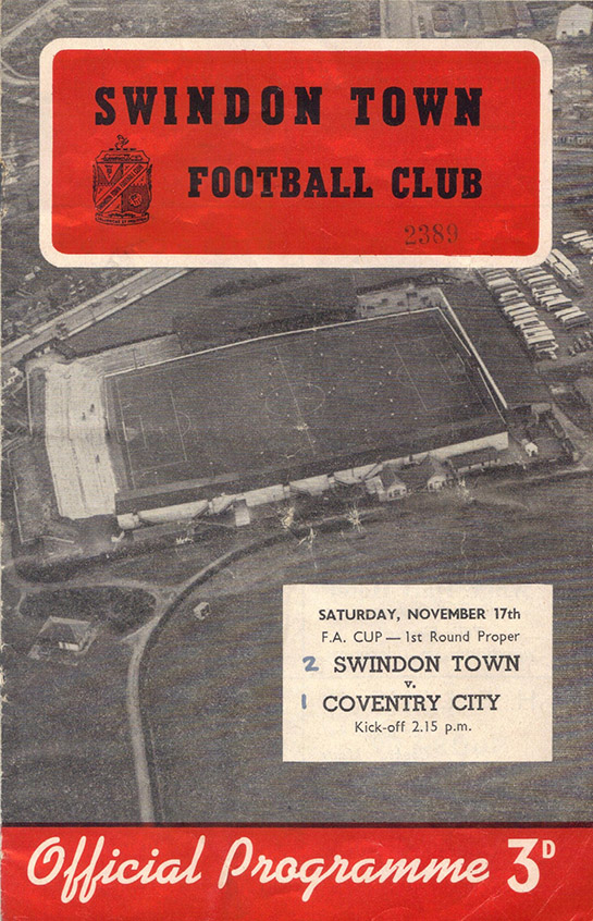 <b>Saturday, November 17, 1956</b><br />vs. Coventry City (Home)