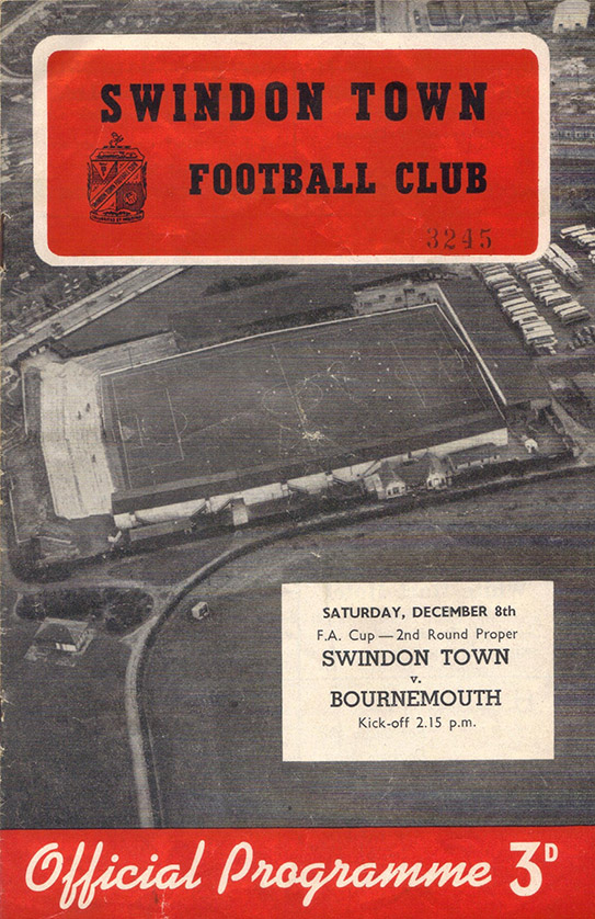 <b>Saturday, December 8, 1956</b><br />vs. Bournemouth and Boscombe Athletic (Home)
