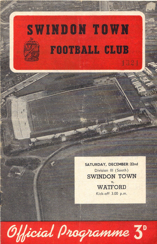 <b>Saturday, December 22, 1956</b><br />vs. Watford (Home)