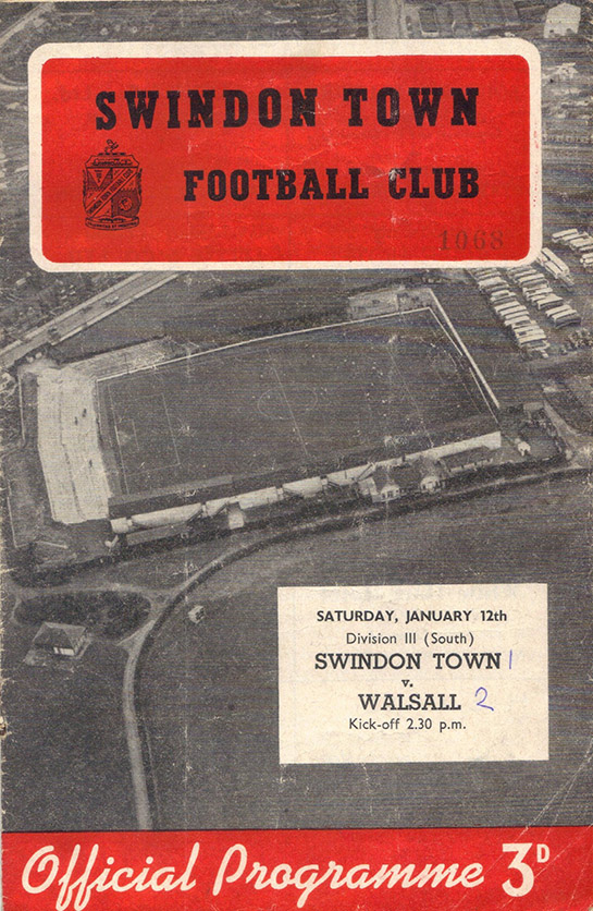 <b>Saturday, January 12, 1957</b><br />vs. Walsall (Home)
