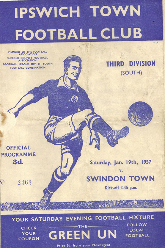 <b>Saturday, January 19, 1957</b><br />vs. Ipswich Town (Away)