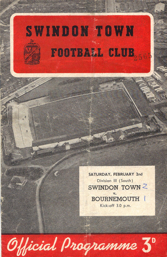 <b>Saturday, February 2, 1957</b><br />vs. Bournemouth and Boscombe Athletic (Home)