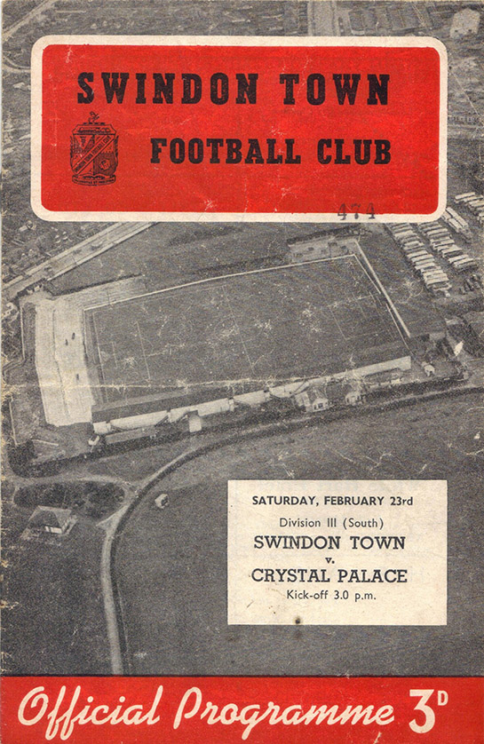 <b>Saturday, February 23, 1957</b><br />vs. Crystal Palace (Home)